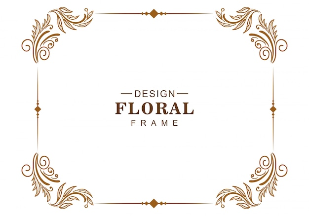 Ornamento decorativo creativo cornice floreale design