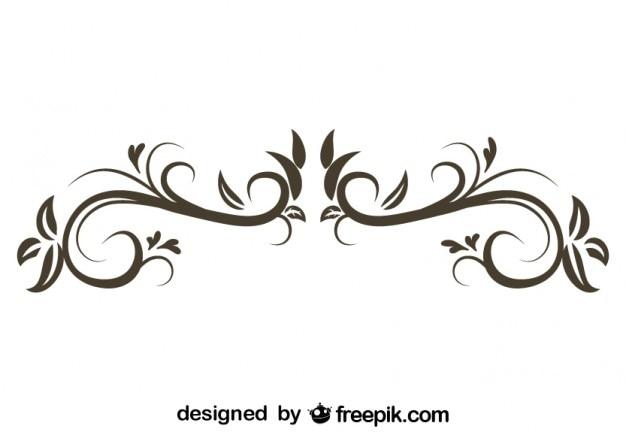 Ornamento decorativo floreale design retrò alla moda