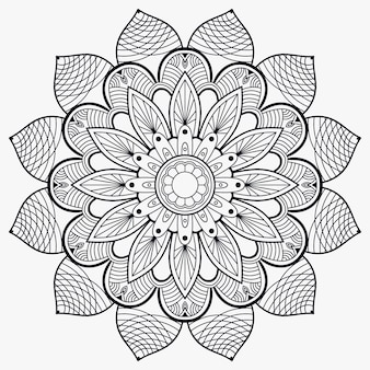 Ornamento decorativo mandala muta premium