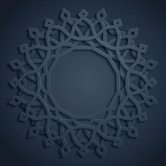 Ornamento del cerchio rotondo modello arabo
