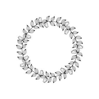 Ornamento del telaio del cerchio della linea di nozze del fiorista femminile del fiore
