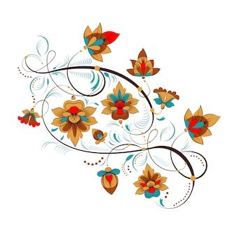 Ornamento di fiori russi