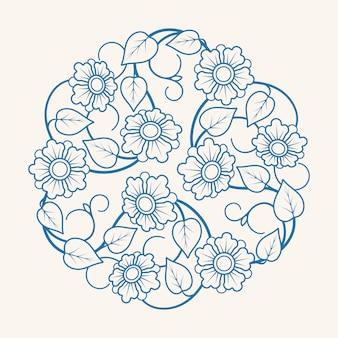Ornamento floreale rotondo