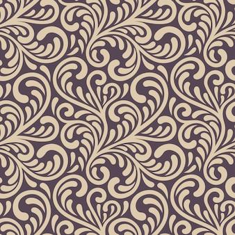 Ornamento floreale senza soluzione di continuità. elegante illustrazione vettoriale astratta.
