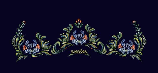 Ornamento floreale vintage disegnato a mano.
