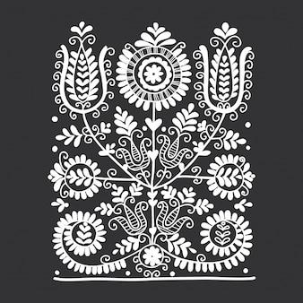 Ornamento folk floreale