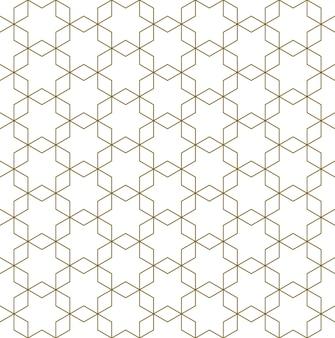 Ornamento geometrico arabo senza cuciture in colore marrone.