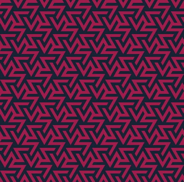 Ornamento geometrico. astratto modello senza soluzione di continuità