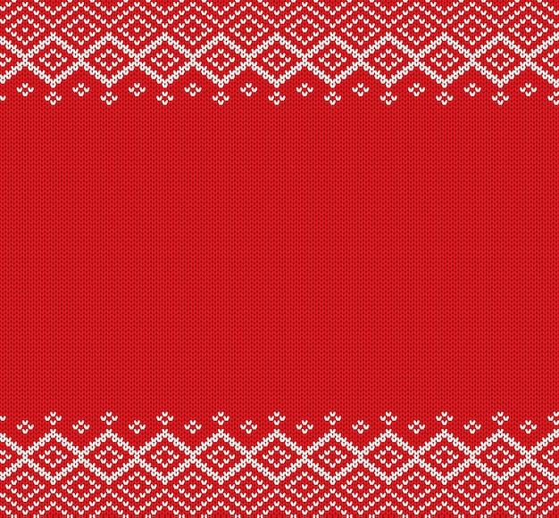 Ornamento geometrico lavorato a maglia per le vacanze knit design maglione invernale di natale.