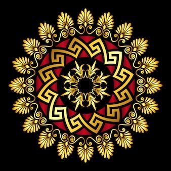 Ornamento greco oro meander