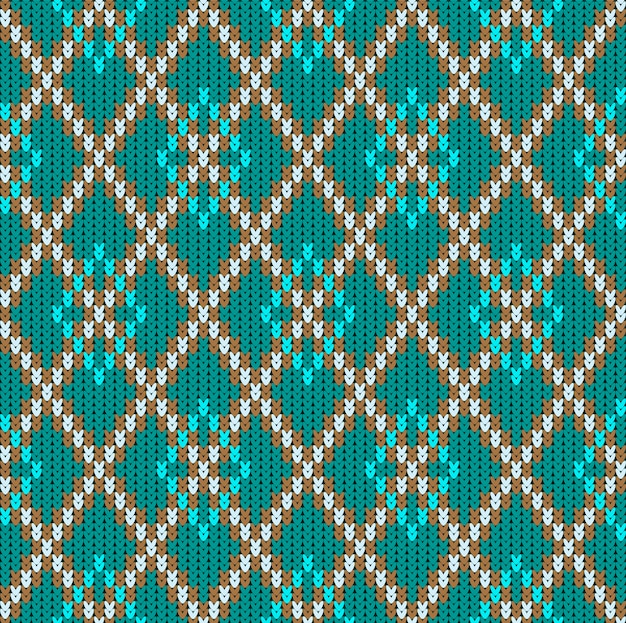 Ornamento jacquard senza cuciture in lana lavorata a maglia