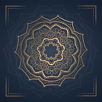 Ornamento mandala background per invito a nozze