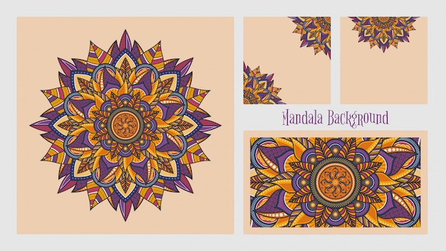 Ornamento mandala colorato