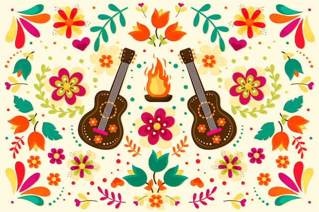Ornamento messicano colorato sfondo