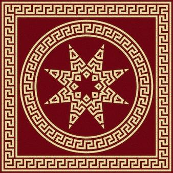 Ornamento tradizionale greco vintage oro (meander)