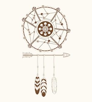 Ornamento tribale di acchiappasogni