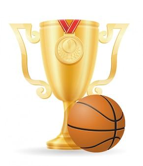 Oro del vincitore della coppa della pallacanestro