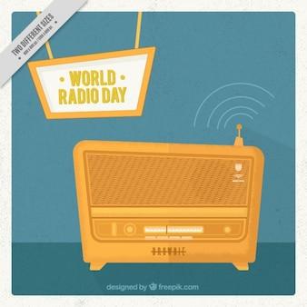 Oro radio retro sfondo
