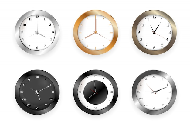 Orologi da parete con frecce di ore e minuti per ufficio commerciale