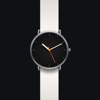 Orologio classico moderno su sfondo nero