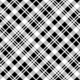 Orologio nero scozzese tessuto trama senza cuciture