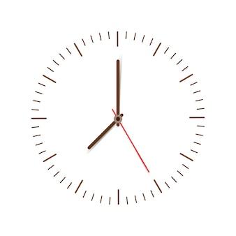 Orologio su bianco