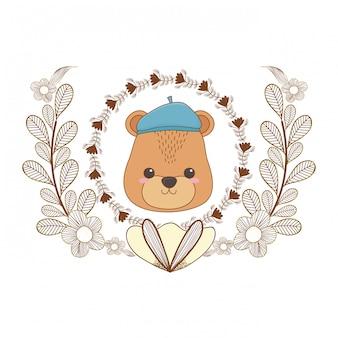 Orso dei cartoni animati con cappello