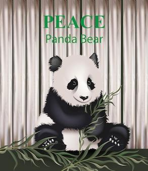 Orso del bambino del panda che mangia