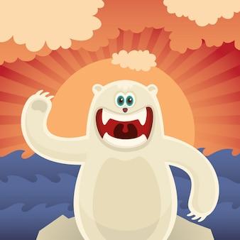 Orso polare comico