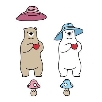 Orso polare con cappello