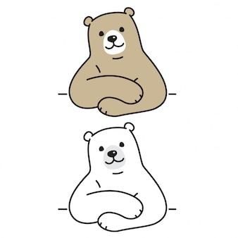 Orso vettoriale illustrazione polare del fumetto