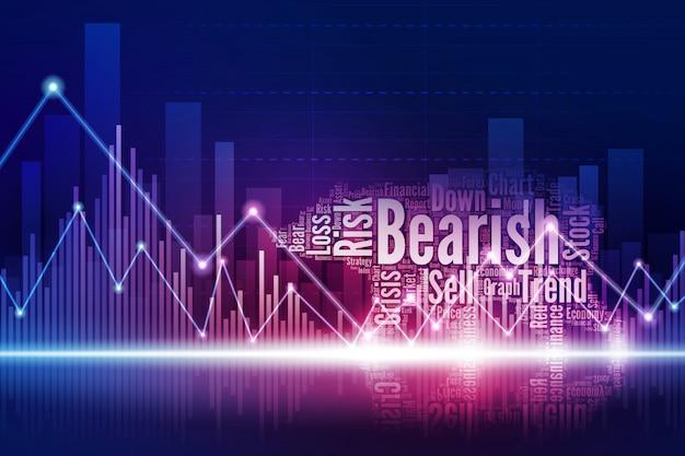 Orso virtuale che cammina nella città del mercato azionario