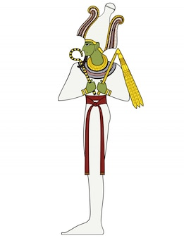 Osiride, simbolo antico egiziano, figura isolata delle divinità dell'antico egitto