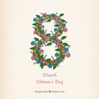 Otto costituito da sfondo fiori giorno delle donne