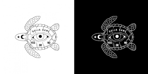 Ouija gioco monoline design
