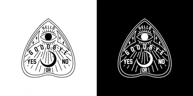 Ouija monoline design
