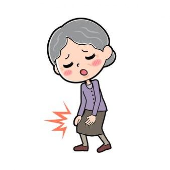 Out line purple indossa grandma_knee-pain