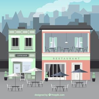 Outdoor costruzione cafe