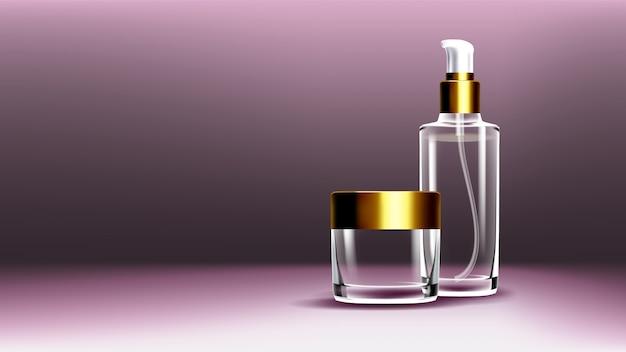 Pacchetti di vetro cosmetico