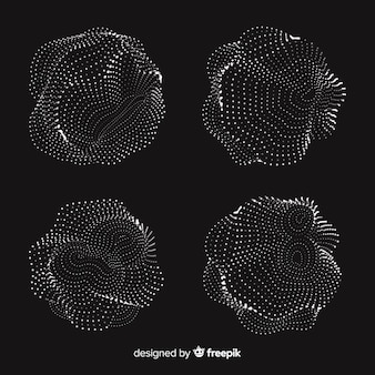 Pacchetto astratto forma di particelle