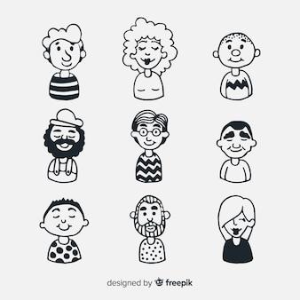 Pacchetto avatar persone dei cartoni animati