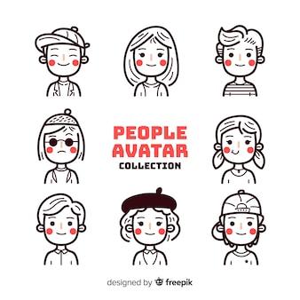 Pacchetto avatar persone incolori