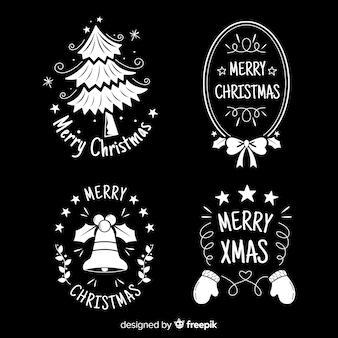 Pacchetto badge lavagna natalizia