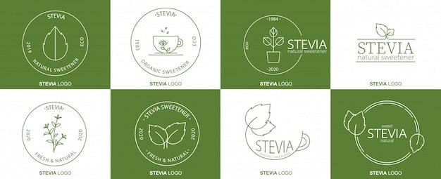 Pacchetto badge lineare stevia