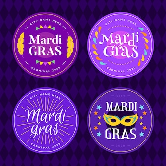 Pacchetto badge mardi gras
