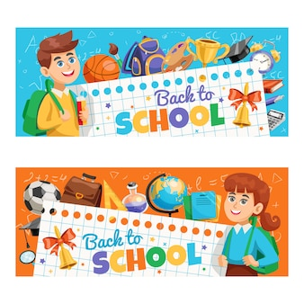 Pacchetto banner back to school