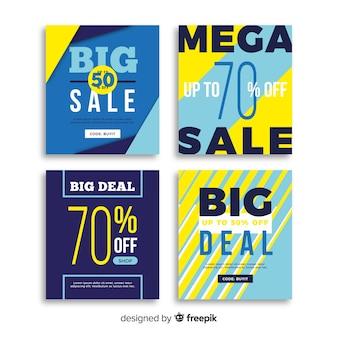 Pacchetto banner per social media di promozione delle vendite