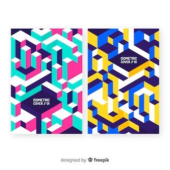 Pacchetto brochure in stile isometrico
