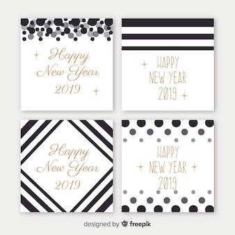 Pacchetto carte semplici del nuovo anno