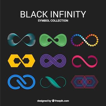 Pacchetto colorato di simboli infinito